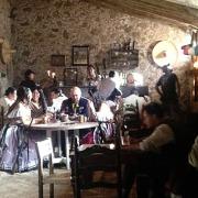 Escena de telenovela dentro de la Hacienda Tochatlaco