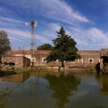 Cuerpo de agua al interior de la Hacienda, con el cual se abastecía la casa principal de la Hacienda Tochatlaco en Zempoala, Hidalgo